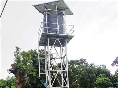 बिजली विहीन गांवों में सोलर ड्यूल पंप से पेयजल की आपूर्ति