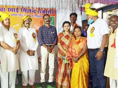 अमात गोड़ समाज के नवाखाई मिलन में जुटे समाजजन