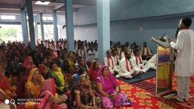 दुर्गा चालीसा पाठ का हुआ आयोजन, गुरुवर और माता के  लगे जयकारे
