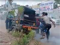 VIDEO: जब मध्य प्रदेश के शिवपुरी में बिना ड्राइवर के दौड़ा ऑटो रिक्शा