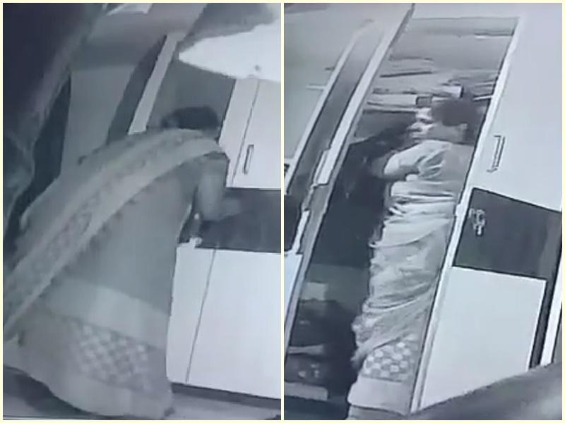 Video Crime News Indore: नौकरानी ने चुराए एक लाख रुपये, सीसीटीवी कैमरे में कैद हुई वारदात