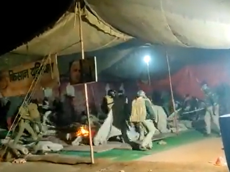 Farmers Protest and Violence Live Update Big action in Baghpat farmers forced removed last night