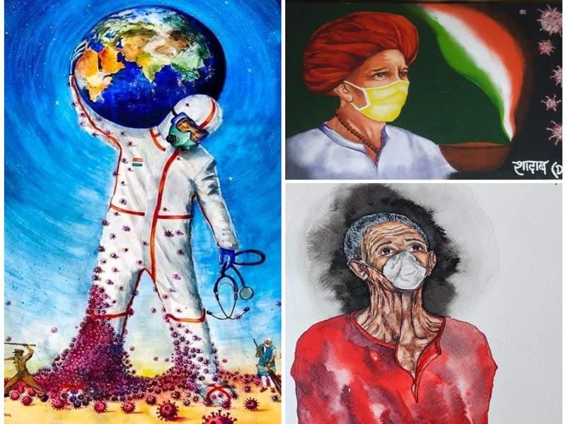 Online Art Exhibition: महाकोशल कला विथिका में कोराना पर कला प्रदर्शनी, देखें ऑनलाइन झलकियां