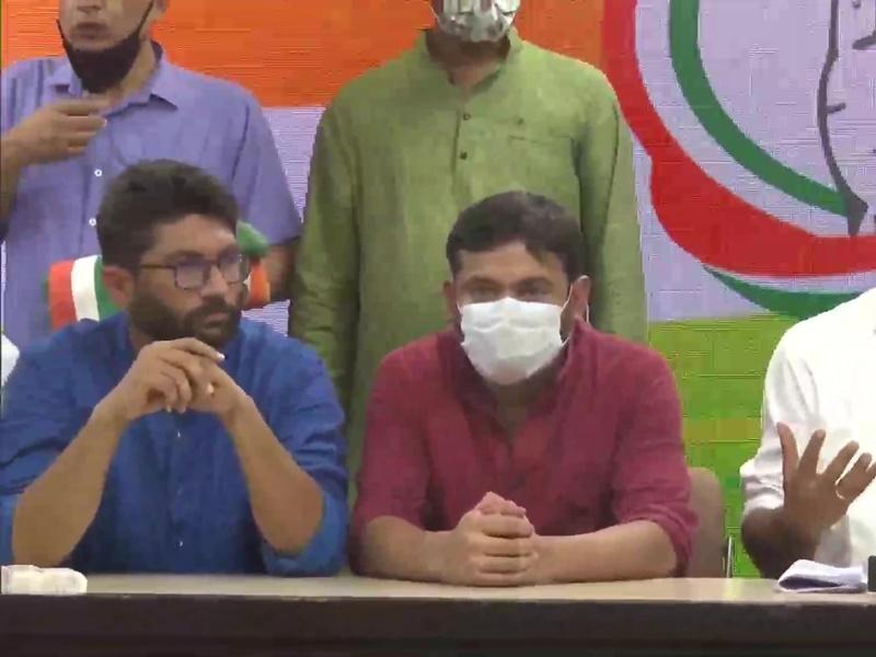 कन्हैया कुमार और जिग्नेश मेवानी हुए कांग्रेस में शामिल, जानिये प्रेस से क्या कहा