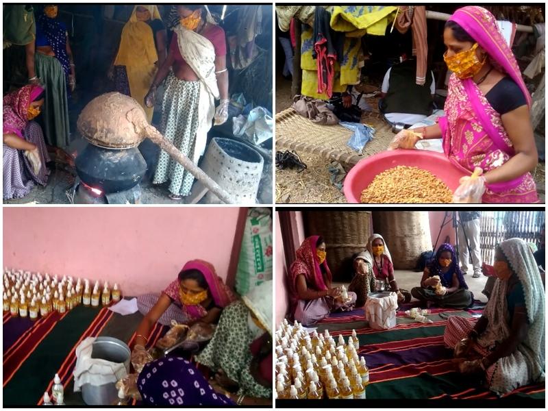 Coronavirus Madhya Pradesh News : आलीराजपुर जिले की आदिवासी महिलाओं ने महुआ से बनाया सैनिटाइजर
