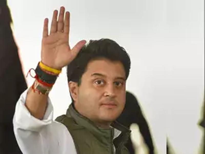 Sanver assembly by-elections: कमल नाथ ने वल्लभ भवन में बैठकर सिर्फ नोटों की चिंता की - सिंधिया