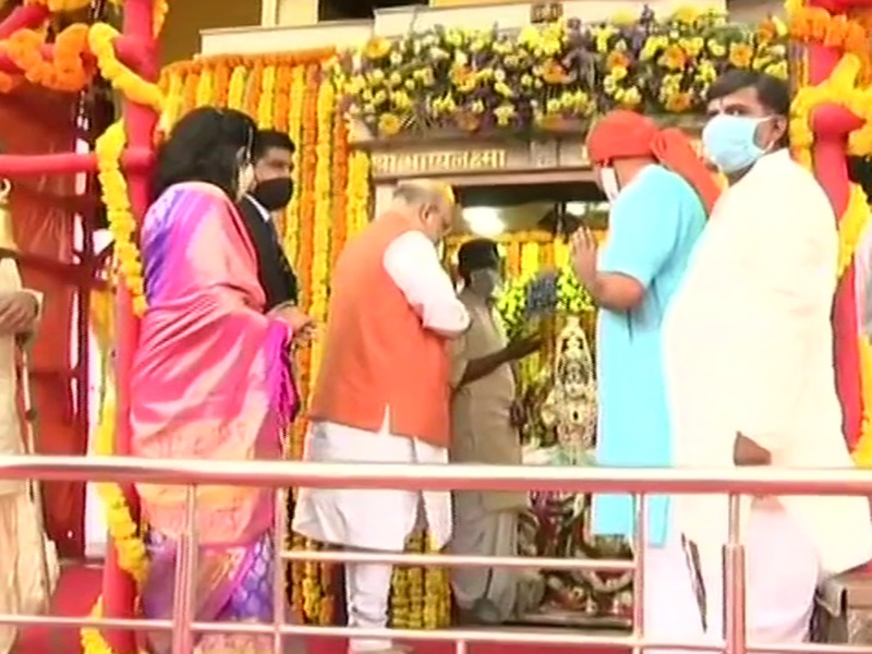 Hyderabad Municipal Election: हैदराबाद पहुंचे गृहमंत्री अमित शाह, रोड शो से पहले पहुंचे भाग्यलक्ष्मी मंदिर