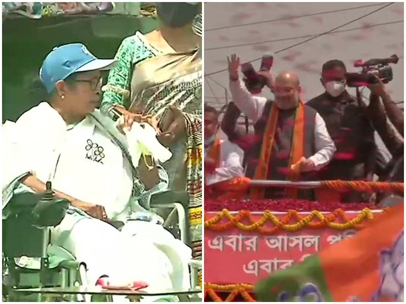 Assembly Elections: अमित शाह व ममता बनर्जी ने झोंकी ताकत, देखिए नंदीग्राम की तस्वीरें