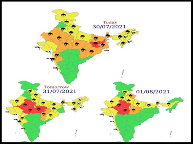 Weather Update: अगले 5 दिनों में भारी बारिश की संभावना, दिल्ली में खतरे के निशान तक पहुंची यमुना