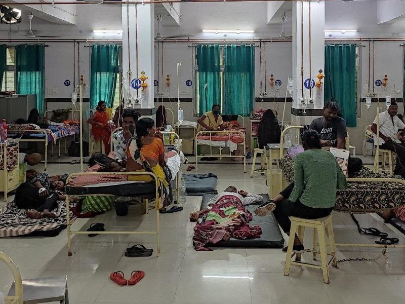 Victoria Hospital Jabalpur This is the district hospital Victoria of  Jabalpur here the land is in the luck of the patients