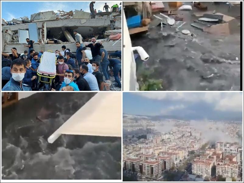 Earthquake in Turkey : तुर्की में भीषण भूकंप, 150 से अधिक घायल, मलबे में कई लोग दबे, सुनामी की चेतावनी, देखें वीडियो