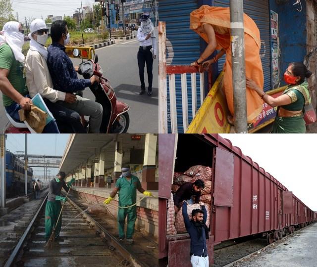 मध्य प्रदेश में लॉकडाउन की तस्वीरें