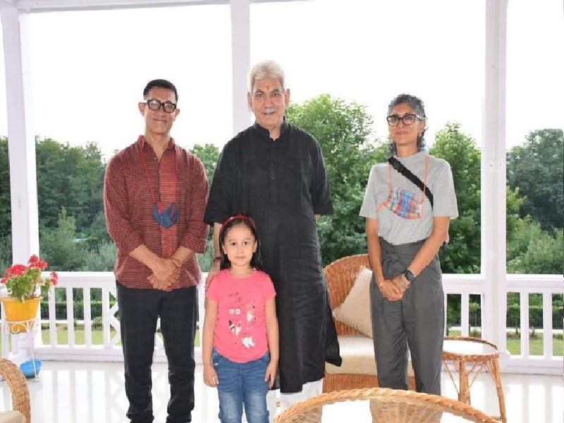आमिर खान और किरण राव ने की जम्मू-कश्मीर के लेफ्टिनेंट गर्वनर सिन्हा से मुलाकात, इन मुद्दों पर हुई चर्चा