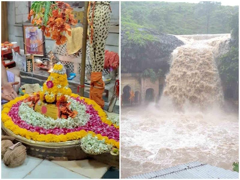 Sawan 2021: रतलाम जिले के सैलाना में है केदारेश्वर मंदिर, झरना आकर्षण का केंद्र, पहाड़ों को चीरकर बनाया रास्ता