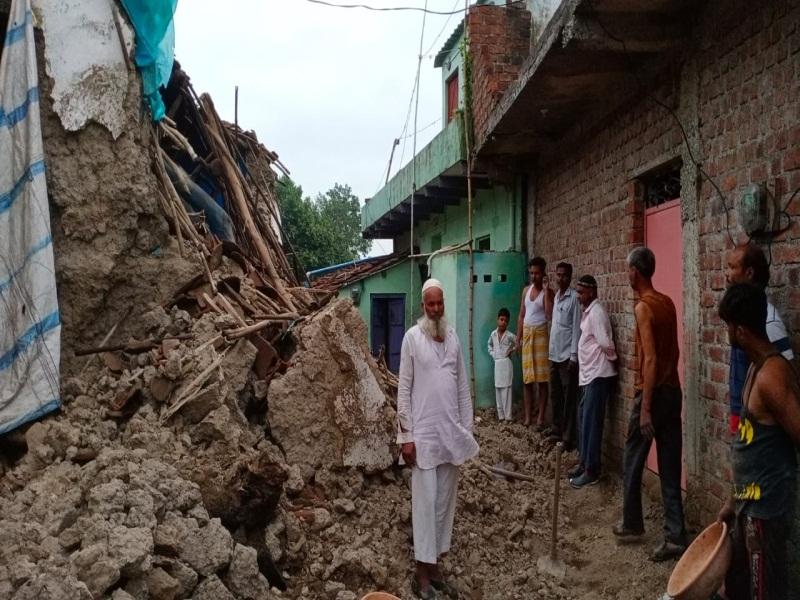 MP Heavy Rain: घर में सो रहा था परिवार तभी अचानक गिरी दीवार