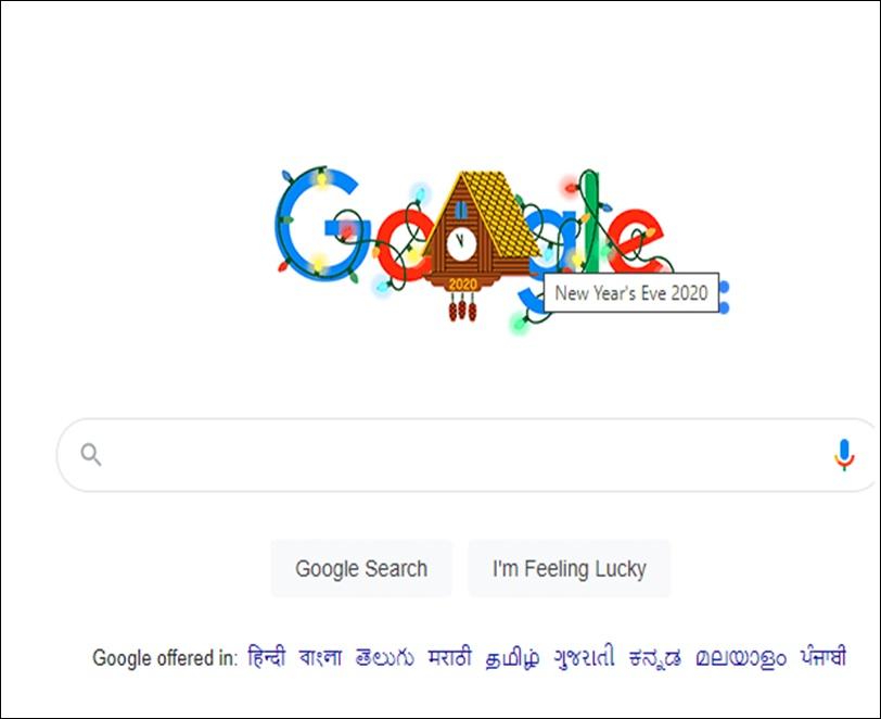 New Years Eve 2020 Google Doodle: नए साल की पूर्व संध्या 2020 का जश्न मना रहा है गूगल, बनाया ये खास डूडल