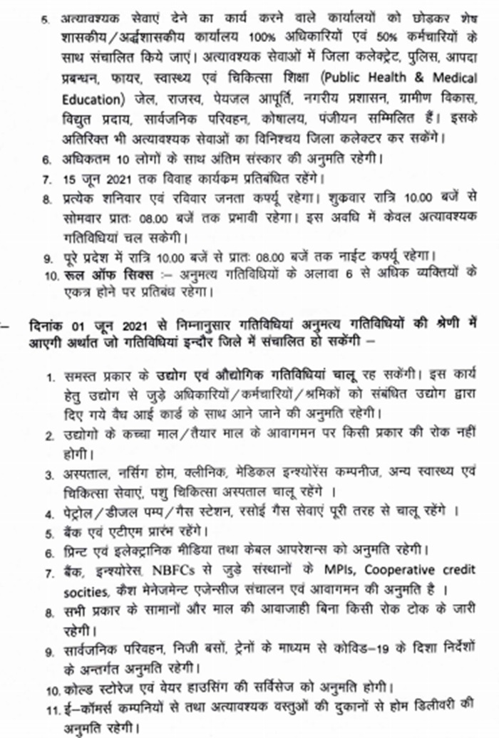 Unlock Indore Guidelines: From June 1, Indore district will also know the restrictions and permission to unlock