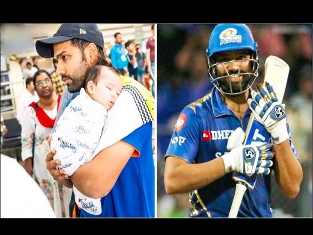 Video IPL 2019: रोहित ने बेटी के नाम किया अपना विजयी अर्द्धशतक, मैदान से किया ऐसा इशारा
