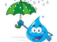 बनाओ रंग-बिरंगा छाता या बारिश की बूंदें